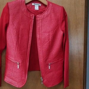 Jackets & Blazers - Leather and Knit Jacket